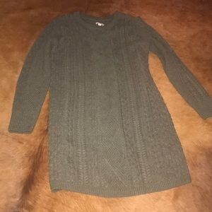 Long sleeve Dress olive green xl
